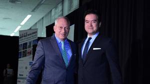 Nicholas Billotti, Chairman of Turner International, and David Malott, Principal of KPF & Chairman of CTBUH.