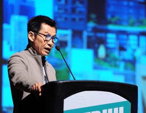 Mun Summ Wong, Founder of WOHA Architects, presents PARKROYAL on Pickering, 2015 Urban Habitat Award winner.