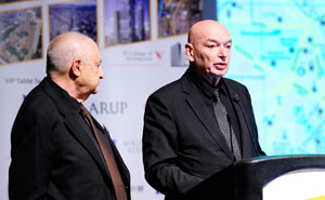 Dakis Joannou, (left) Nice Day Developments and Jean Nouvel, Ateliers Jean Nouvel, present on Best Tall Building Europe winner The White Walls