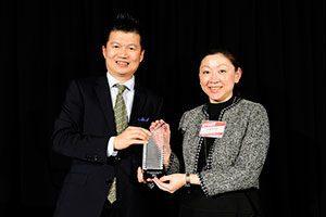 Joseph Chou (L), Chairman, Taipei Financial Center Corporation and Freda Tsai (R), General Manager, Tower Management, Taipei Financial Center Corporation